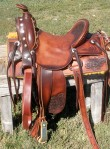 Jacks saddle. Copied off his old saddle.