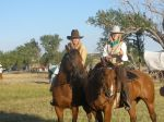 young ladies portraying cowgirls