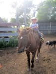 Lige and Squirt riding his Dad's old saddle